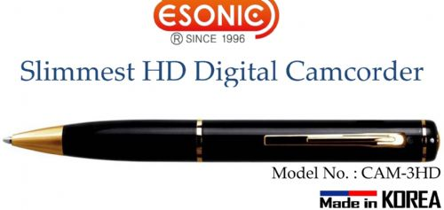 Esonic Slimmest HD Digital Camcorder - (MemoQ) CAM-3HD 720P (16GB )